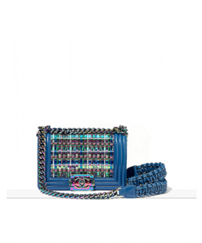 Small Boy Chanel Handbag : BLUE